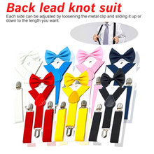 2018 New Kids Suspenders With Bow tie Cool Bow Tie Set Matching Ties Outfits Adjustable and Elasticated Hot Suspender Sale