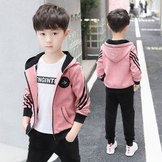 928e66d9c Baby Boy Autumn Clothes 4 6 8 10 12 13 Year Boy Clothing Set Fashion  Leisure Long Sleeve Jacket+ Pants Suits Kids Boy Clothes