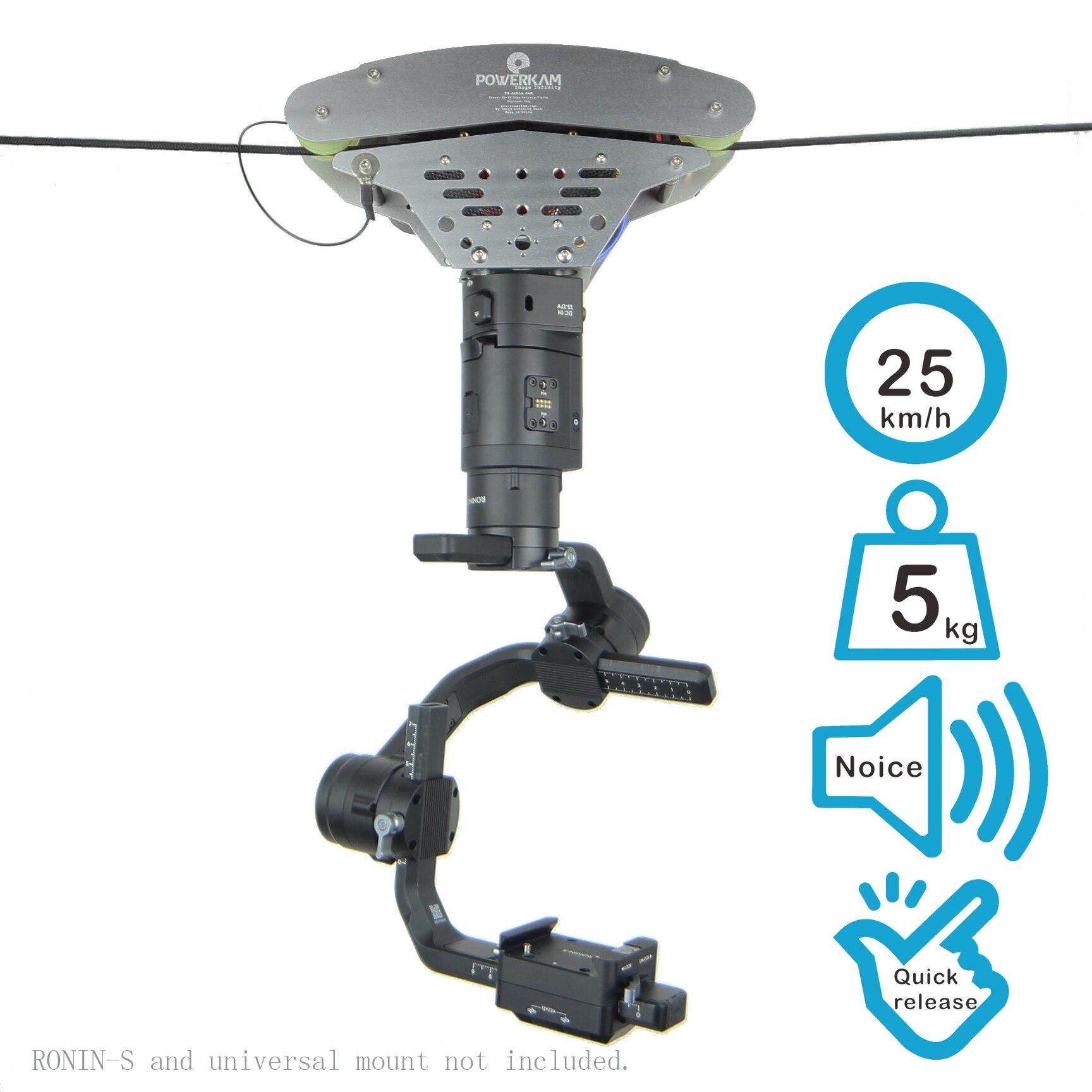 T3 haute qualité et couple élevé câble cam rc tir dolly pour RONIN S, MOZA, grue, BEHOLDER stabilisateur