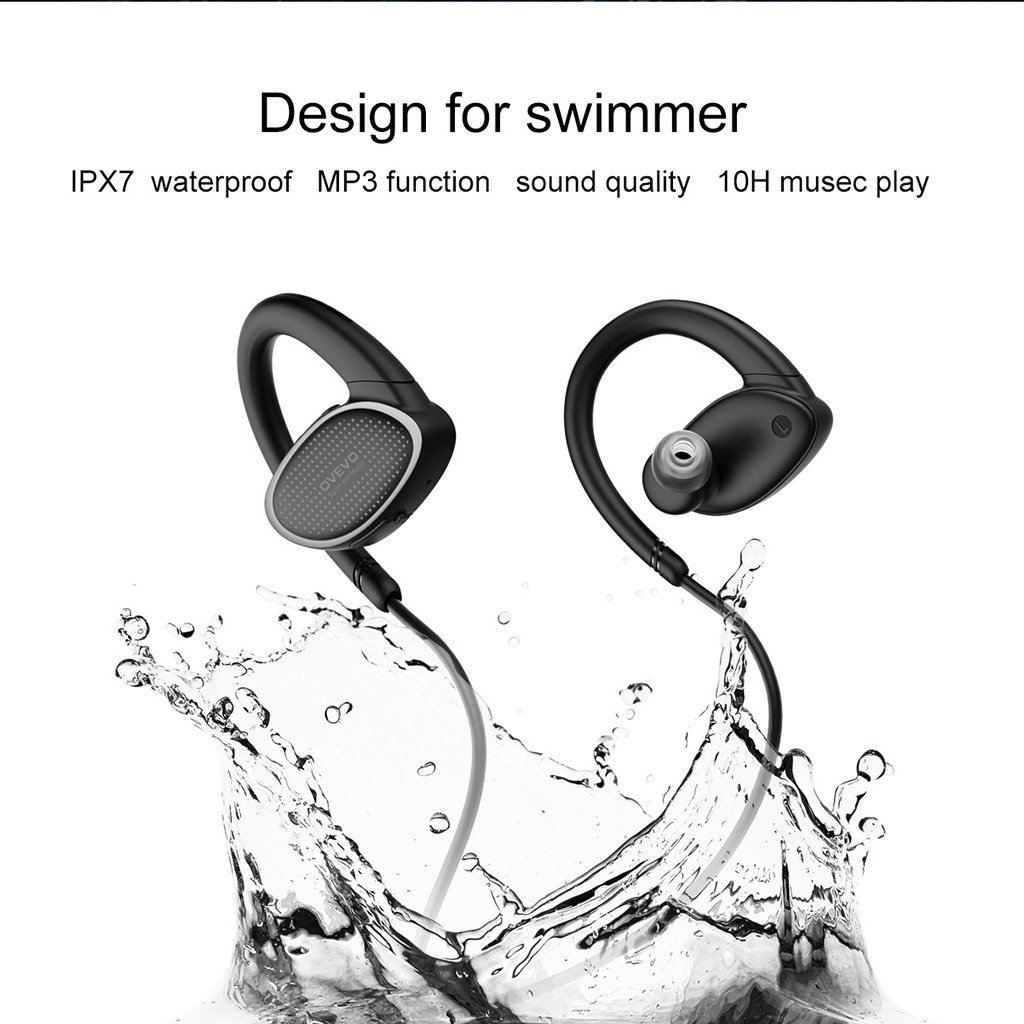 Sports Bluetooth Headphones Bass IPX7 Waterproof Wireless Earphones Stereo Headset with Microphone for iPhone for Samsung