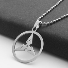 geometric round triangle arrow necklace game watch pioneer darts stainless steel pendant jewelr