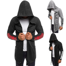 Men Hoodie Assassins Sweatshirt Creed trench coat Male Hoodies Master Cosplay Cardigan Plus