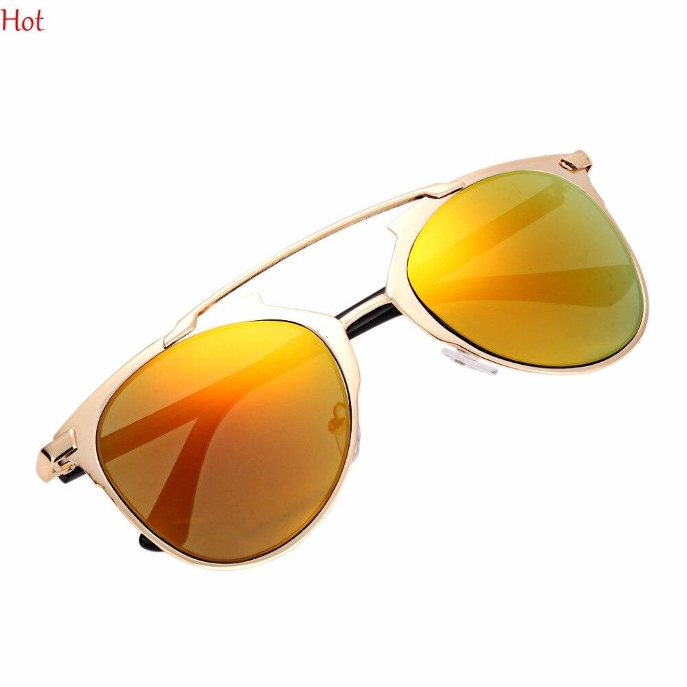 6d3b7fdef5 Hot Euro Vintage Style Eyewear Unisex Mirror Lens Sunglasses Men Women Glasses  Eyewear Outdoor Metal Frame Sun Glasses SV028202-in Sunglasses from Apparel  ...