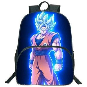 Image 3 - Hermosos bolsos de Dragon Ball Z Goku para niños, mochila para niños y niñas, mochila para portátil con patrón colorido a la moda, para volver a la escuela