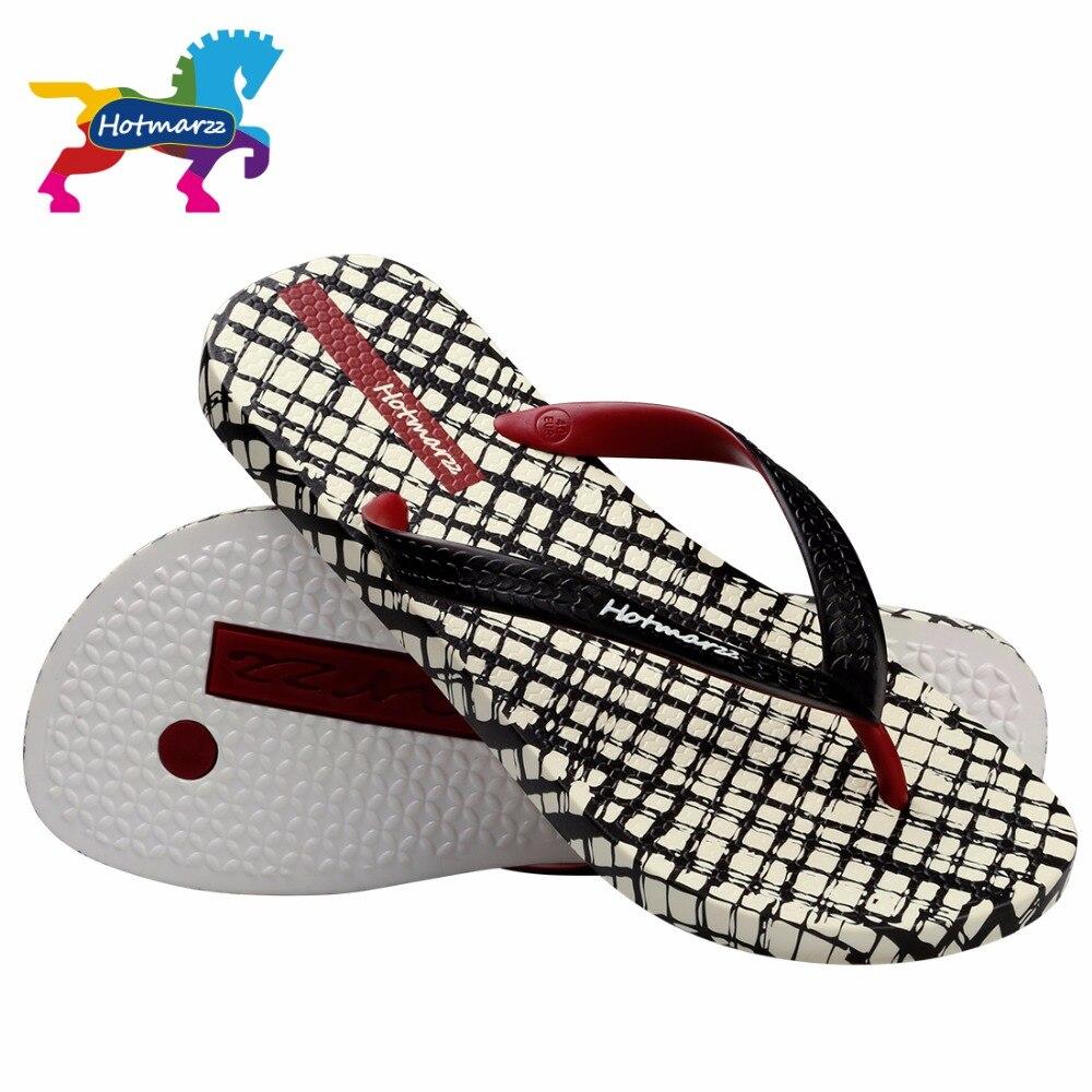 Image 3 - Hotmarzz Men Slippers Lattice Flip Flops Summer Beach Sandals Pool Shower Bathroom Slides Shoesshoes shoesshoes slideshoes shower -