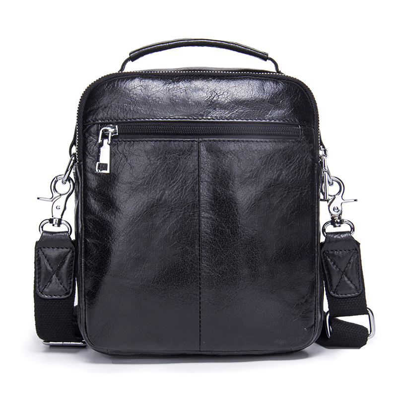 CONTACT'S Genuine Cow Leather Messenger Bags Flap Casual Men Solid Handbags Famous Brand Small Male Shoulder Crossbody Bags 2