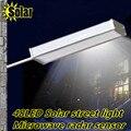 2016NEW destaque 48LED sensor de radar de Microondas Ao Ar Livre Caminho Parede solar do diodo emissor de luz de Emergência Lâmpada de Segurança Spot Light Luminaria