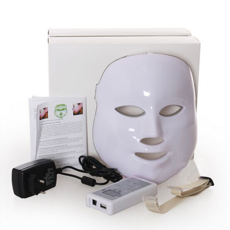 PDT Photon LED Facial Mask Skin Rejuvenation Wrinkle Removal Electric Device Anti-Aging Mask Therapy Beauty Machine 7 colors light photon electric led facial mask skin pdt skin rejuvenation anti acne wrinkle removal therapy beauty salon