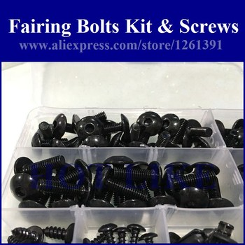 Fairing bolts kit screws for YAMAHA YZF R1 2007 2008 YZFR1 07 08 YZF-R1 07-08 fairing screw bolts kit HOTLIKE 1 set