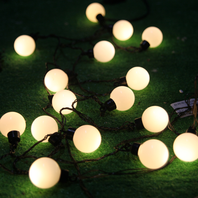 Novelty outdoor lighting3cm big size led ball string lamps black novelty outdoor lighting3cm big size led ball string lamps black wire christmas lights fairy wedding garden pendant garland in led string from lights aloadofball Images