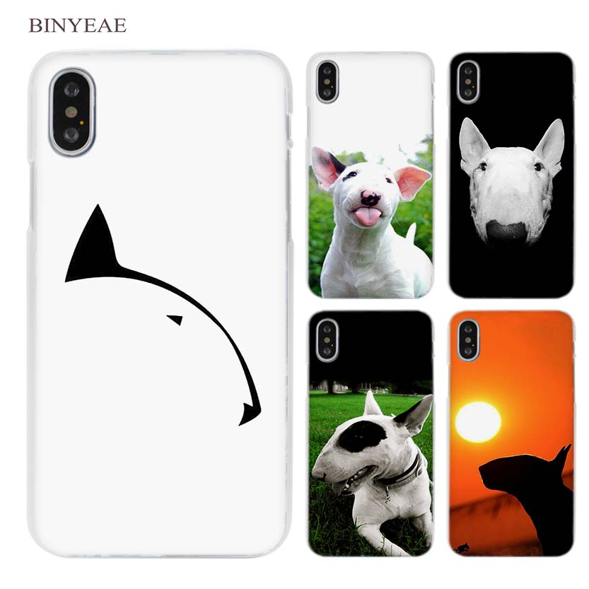 BINYEAE bullterrier bull terrier Clear Cell Phone Case Cover for Apple iPhone X 6 6s 7 8 Plus 4 4s 5 5s SE 5c