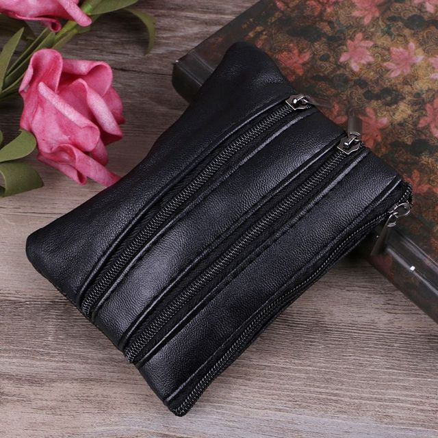 NoEnName_Null High Quality Women Fashion Mini Polyester Sheepskin Purse Coin Card Wallet Pouch Zipper Small Change Bag 12x9cm