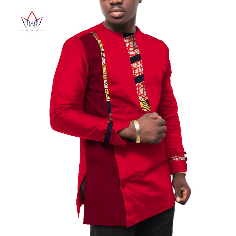 2019 naturel automne 5xl hommes vêtements africains à manches longues dashiki hommes top grande taille africaine hommes coton o-cou vêtements WYN495
