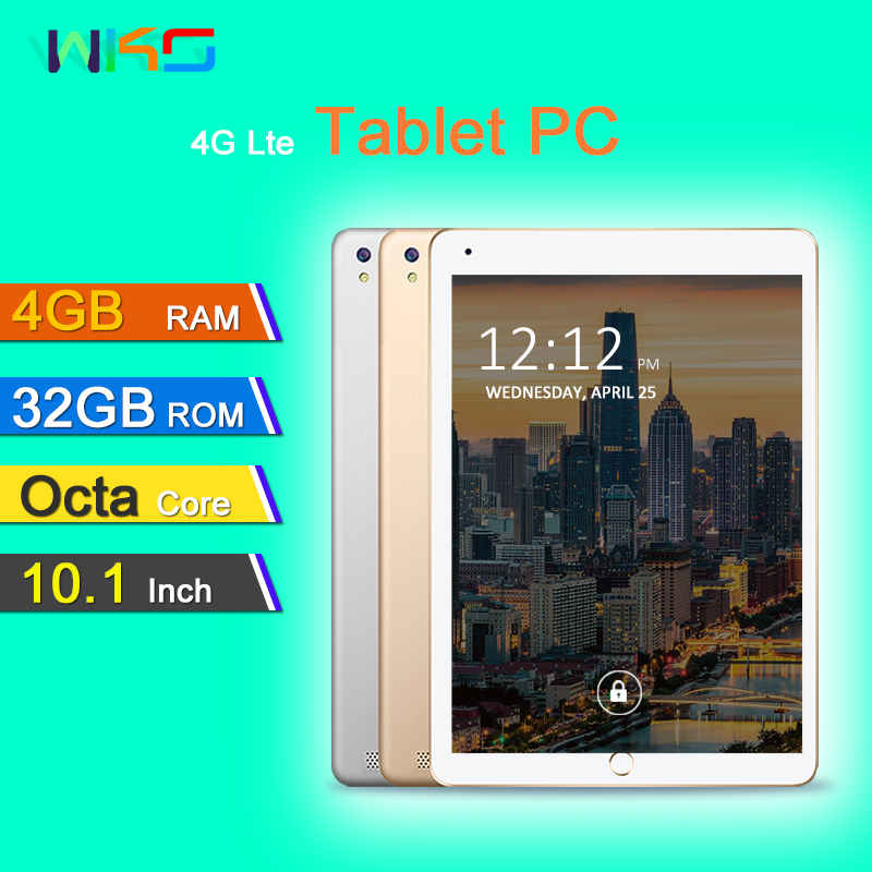 Tablets Octa Core 3G/4G Tablet pc 4GB RAM 32GB ROM 1280*800 Dual Cameras Dual SIM Android 7.0 Tablets 10.1 inch Free Shipping lnmbbs 8 inch tablet sims android 7 0 cheap tablets with free shipping lte 4g eight core 1280 800 2g ram 32g rom wifi game play