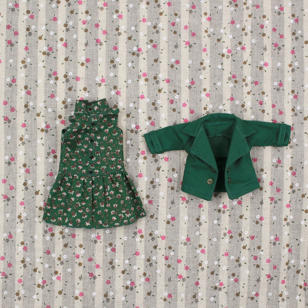 Neo Blythe Doll Floral Dress With Jacket 1