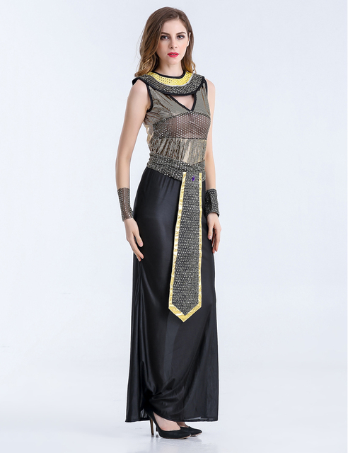 MOONIGHT Halloween Costumes Ancient Egyptian Cleopatra Queen Costume Cosplay Clothing For Women Fancy Dress Costume Outfits 2