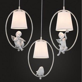 Angle Bird American Crystal Pendant Light GOLD Iron For Dining Room Restaurant Bedroom Coffee shop Living Room LED E27 bulbs