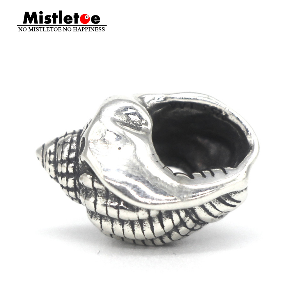 Mistletoe Jewelry Genuine 925 Sterling Silver Ocean Voice Charm Bead Fit European Troll 3.0mm Bracelet