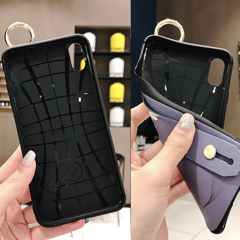 Girls Fashion Case with Wrist Strap for iPhone 11/11 Pro/11 Pro Max 5