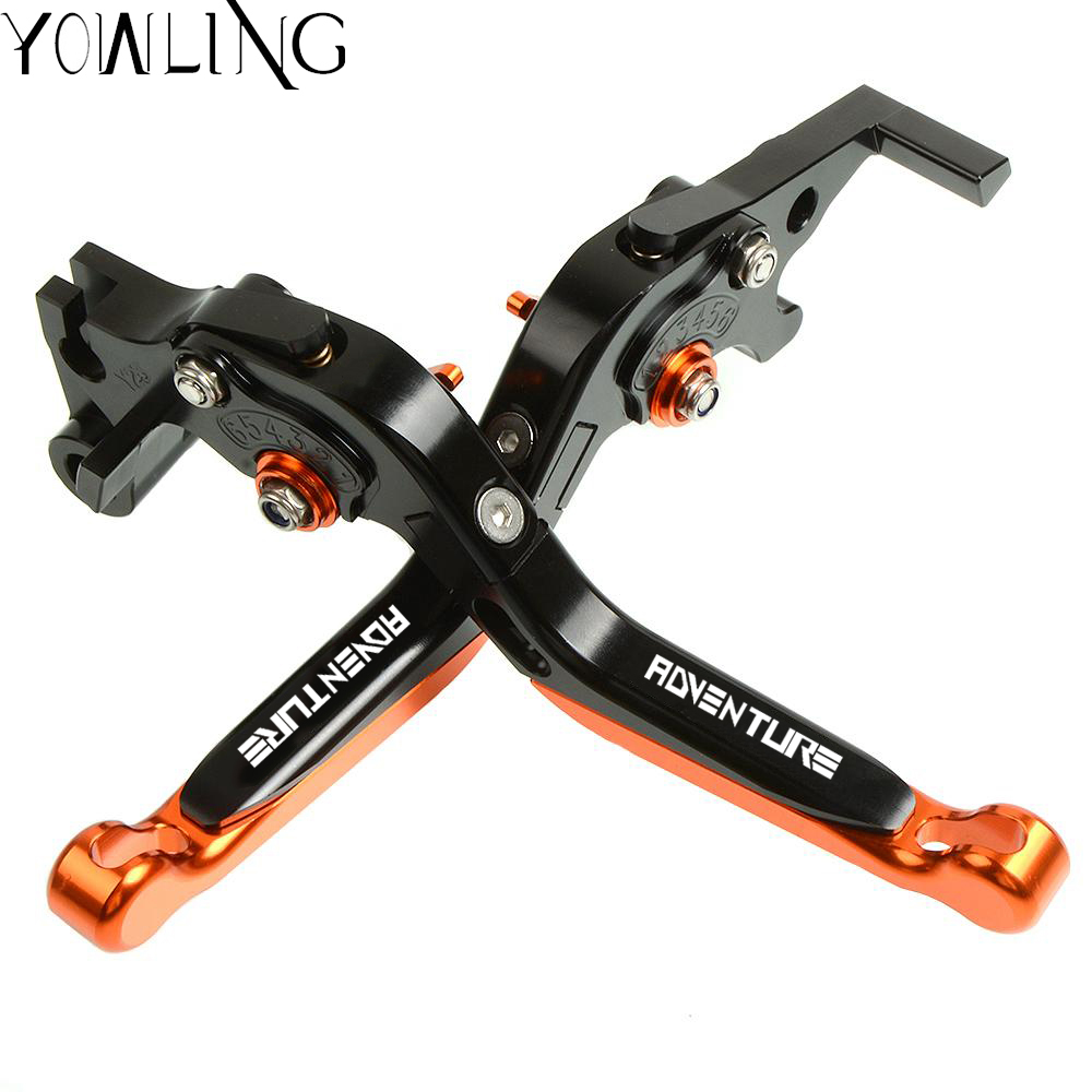 CNC Adjustable Folding Extendable Motorcycle Brake And Clutch Levers Leva Freno Moto For KTM Super Adventure 1290 2015 2016 2017