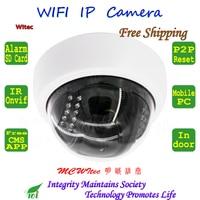 Built In WIFI 720P IR Dome Vandal Proof Plastice Indoor CCTV Cam Onvif IP Camera FTP