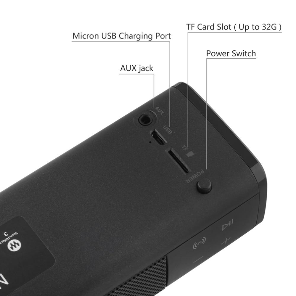 Forte basse SL-1000 Bluetooth 4.1 Haut-parleur sans fil Lecteur de - Audio et vidéo portable - Photo 5