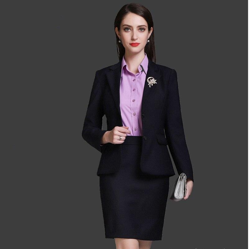 0b2b49e593 Fmasuth Terno de Saia para As Mulheres Do Escritório de Negócios 2 pcs Set  Jacket Completo