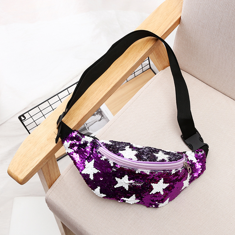 Waist Bag Fashion Leather Fanny Pack Star Printing Women Male Purse Chest Bag Ladies Belt Phone Bag Waist Packs