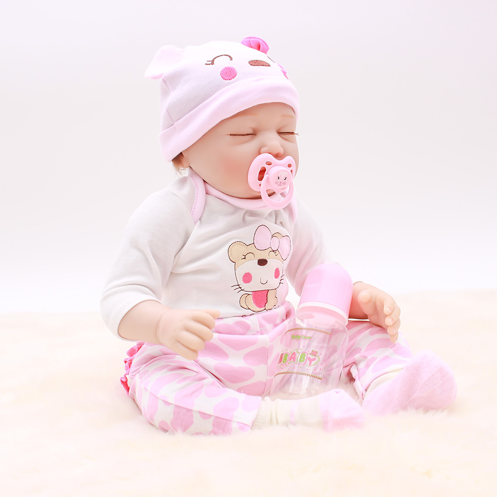 "OtardDolls Bebes Reborn Dolls 50cm 20""Reborn baby doll Handmade Sleeping Silicone Vinyl Lifelike toddler Bonecas girl kid menina"