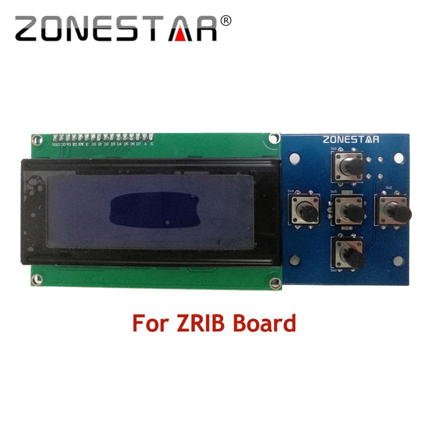 2004 LCD display and 5 KEYS KEYPAD ZRIB board RepRap 3D Printer kit Mendel Prusa i3 5 KEYS ZONESTAR P802N P802Q D807A