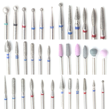 6PCS Diamond Cutters for Manicure Set Milling Cutters for Nail Silicone Ceramic Nail Drill Bits Set Milling Cutters for Pedicure