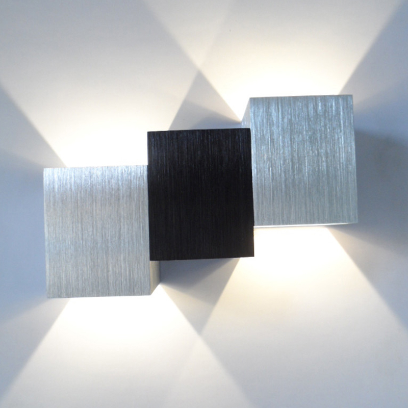 1pce New Modern LED sconce led Wall-Mounted Light Aluminum 6W for Aisle Bedroom Fixture  Porch,Background free shipping