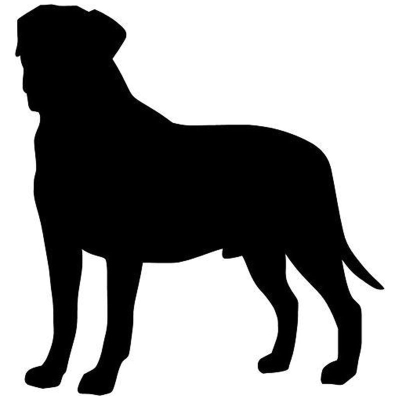 9*9.5CM Bullmastiff Dog Car Stickers Reflective Cute Vinyl Decal Car Styling Bumper Decoration Black/Silver S1-1024