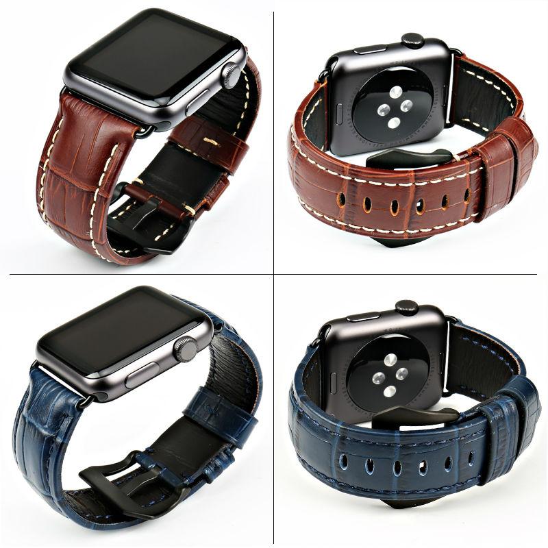 Klockaccessoarer klockband äkta läder armband för Apple Watch 4 - Tillbehör klockor - Foto 3