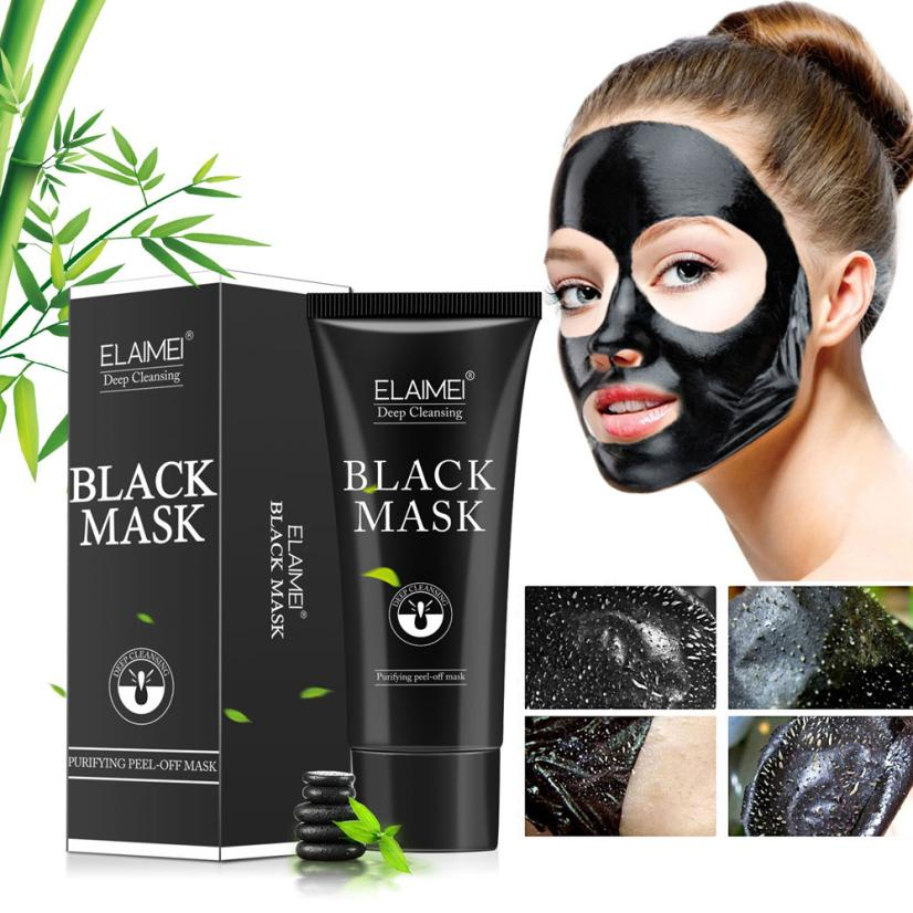 Blackhead Remover Mask Skin Care Cream Deep Cleaning Purifying Bamboo Charcoal Ance Black Mud Face Mask Whitening Oil Control #T