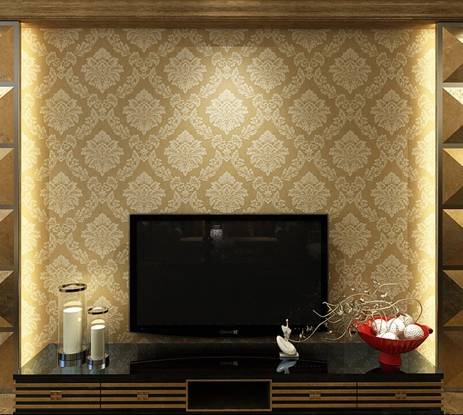 10m*53cm Damascus, european-style wallpaper The sitting room the bedroom TV setting wall paper 3d wallpaper milan melody new warm shadow plain coloured wallpaper contracted european style wall paper the sitting room dining room study bedroom wall