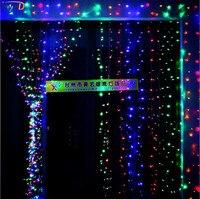 Iwhd 10x5 м гирлянды светодиодные Рождество фары Открытый 110/220 В Рождество украшения led Шторы Строка Фея огни Рождество Новый год