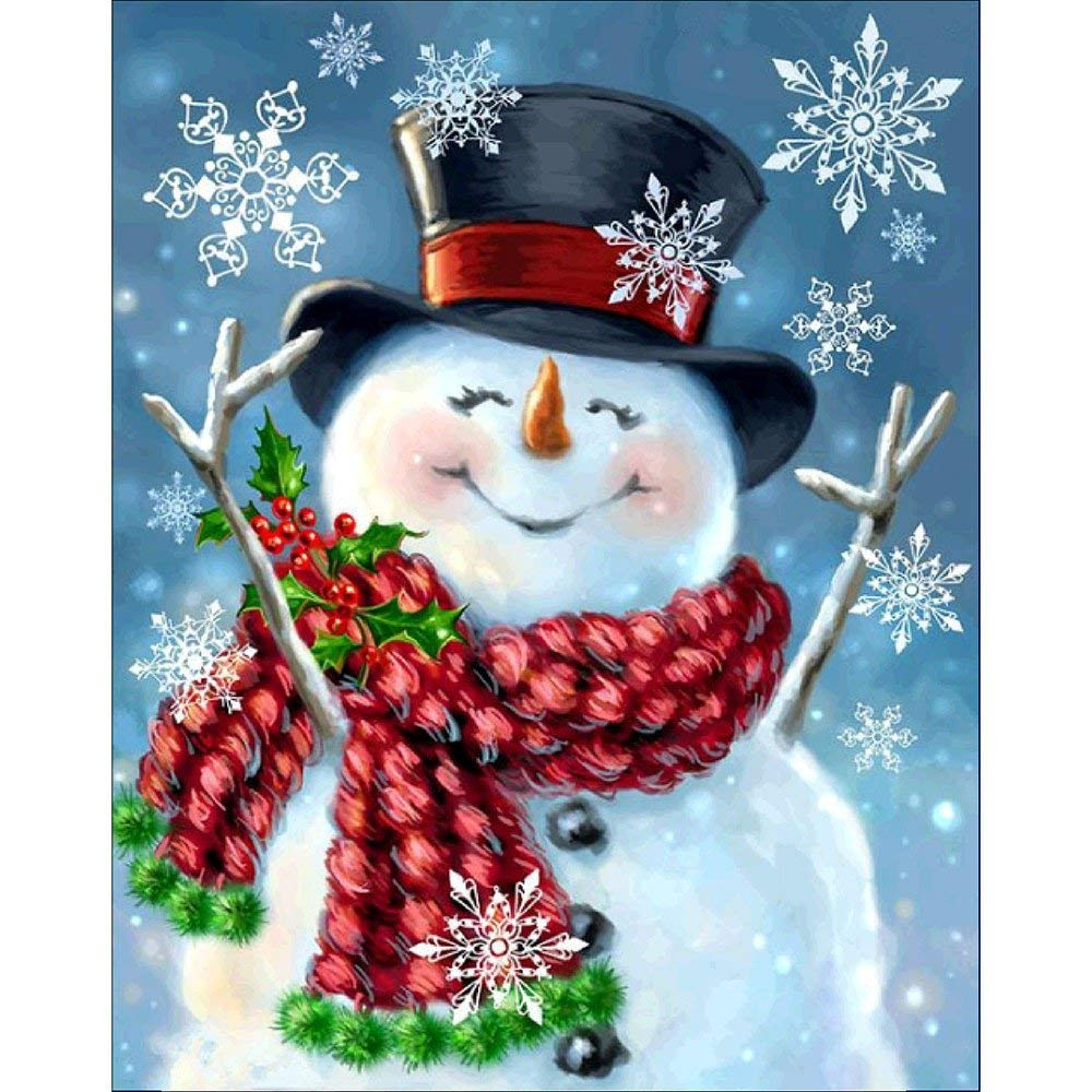 24*30cm Snowman Diamond Painting Full Drill 5D DIY Crystal Diamond Embroidery Kit for Home Wall Decor Paintings Holiday gift(China)