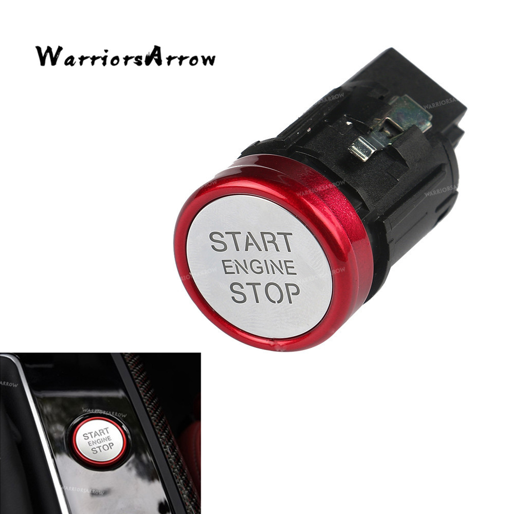 Red Chrome Engine Start Stop Switch Push Button For Audi A6 C7 2011 2012 2016 A6