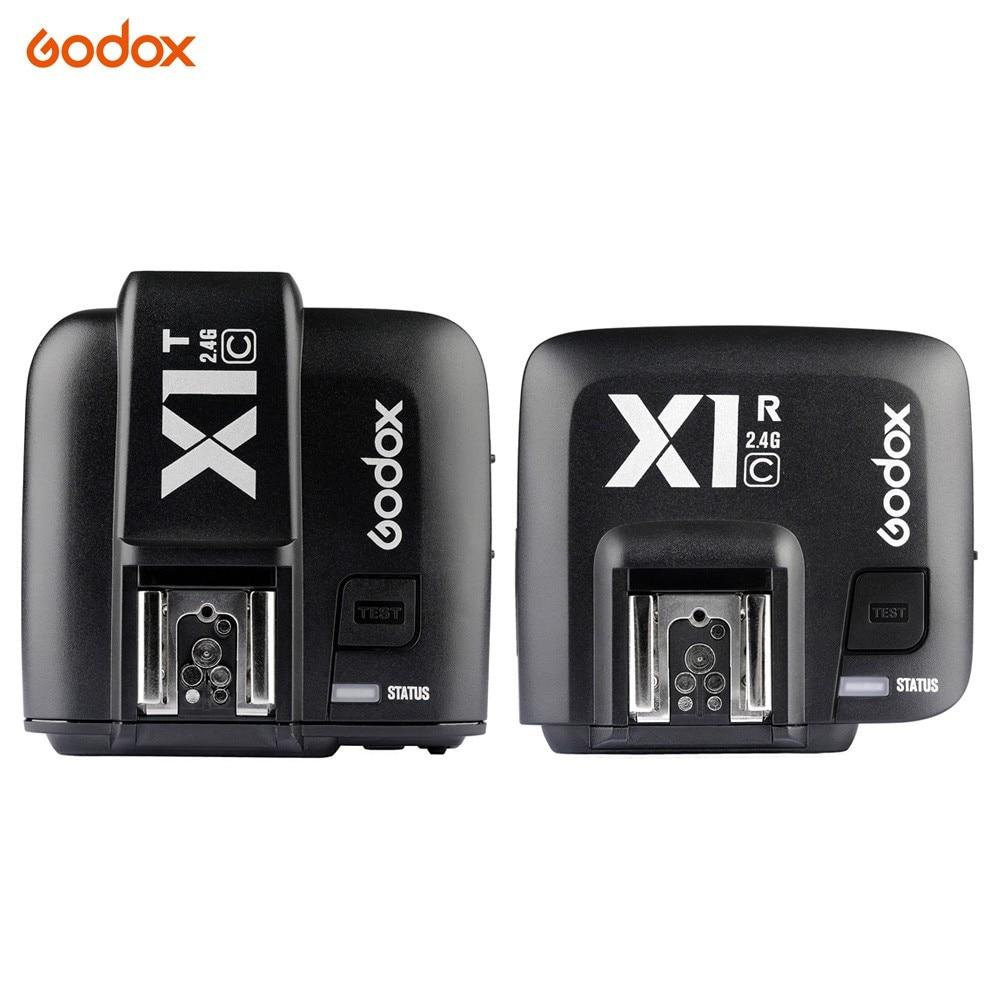 все цены на Godox X1T-C 2.4G Wireless Flash Transmitter + X1R-C TTL Receiver for Canon 1000D 600D 700D 650D 100D 550D 500D 450D 400D 7D 70D онлайн