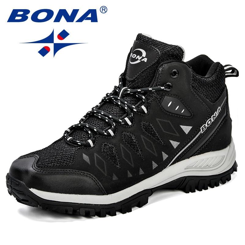 BONA nouveau Design hommes chaussures montagne grande taille marque chaussures hommes Anti-glissant chaussures de randonnée confortable hommes chaussures de Jogging en plein air - 4