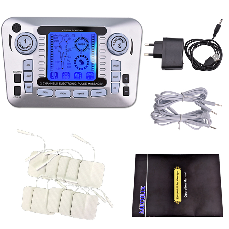 Ems Muscle Stimulator Therapy Massager Pulse Tens Acupuncture Low Frequency Physiotherapy Machine Full Body Relax Fat Burner hwato computer random pulse acupuncture treatment instrument smy 10a nerve and muscle stimulator tens 10 channels output ce appr