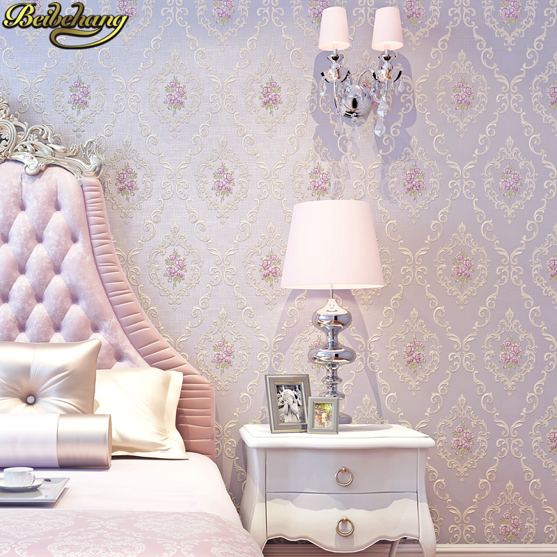 beibehang Floral Wallpapers for living room Wall Covering Flower TV Bed Room Embossed Textured Wallpaper roll papel de parede 3D wallpaper modern anchos travelling boat modern textured wallcoverings vintage kids room wall paper papel de parede 53x1000cm