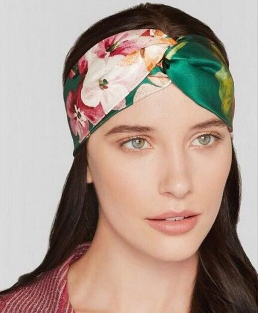 Online Shop 1 Pc Summer Fashion Women Elastic Turban Twisted Knotted  Headband Ethnic Floral Wide Stretch Cross Knot Hair Accessories  22d45057a44