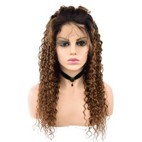 Brazilian Lace Front Curly Wigs Human Hair Lace Front Wigs For Women Remy Hair Ombre Wigs Dellas Love Free Shipping