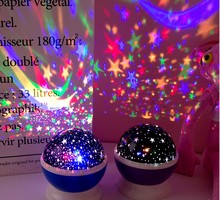 Stars Starry Sky LED Night Light Projector Moon Lamp Battery USB Kids Gifts Children Bedroom Lamp