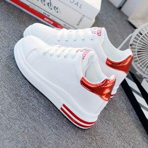 Image 5 - SWYIVY, zapatos informales de microfibra, zapatillas de deporte para mujer, zapatos blancos, zapatillas de plataforma de primavera 2020 para mujer, nuevos zapatos de mujer