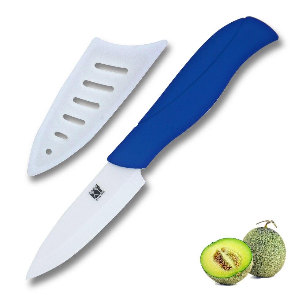 Blue Kitchen Knife: XYj Brand Ceramic Knife 3 Inch Paring Knife White Blade Dark Blue Handle Kitchen Knife Ceramic
