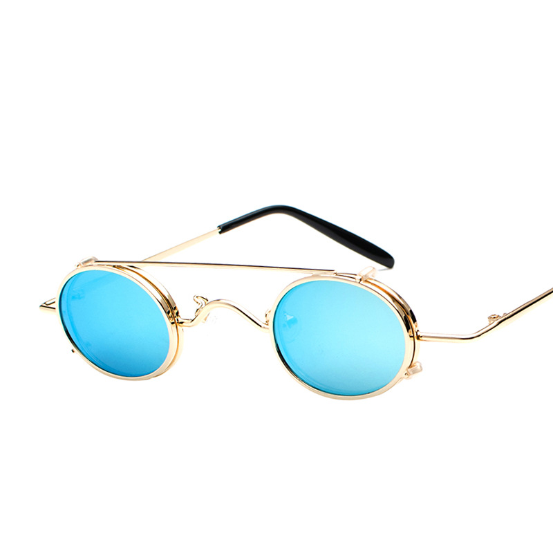 New punk wind font b sunglasses b font lightweight detachable dual use retro prince mirror street