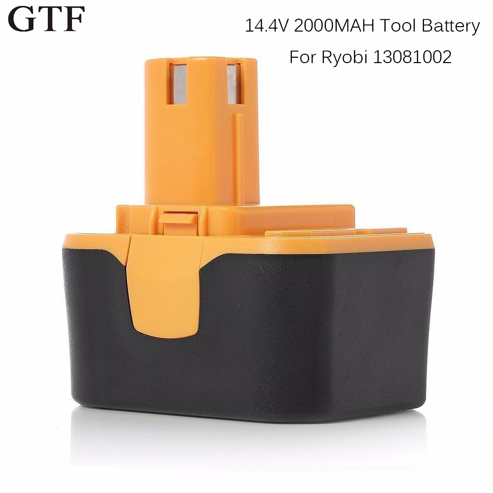 GTF 14.4V 2000mAh Rechargeable NI-CD Power Tool Battery For RYOBI 130281002 RY62 RY6200 RY6201 RY6202 STPP-1441 Tool batteryGTF 14.4V 2000mAh Rechargeable NI-CD Power Tool Battery For RYOBI 130281002 RY62 RY6200 RY6201 RY6202 STPP-1441 Tool battery